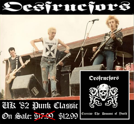 Desctructors &quot;Exercise the Demons of Youth&quot; CD on Sale